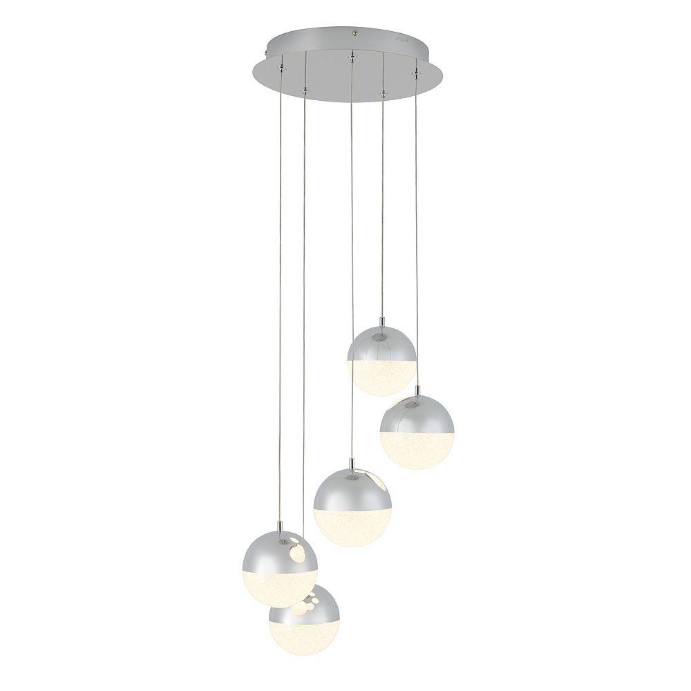 Artika Sparkle 5-Light Spiral LED Integrated Pendant