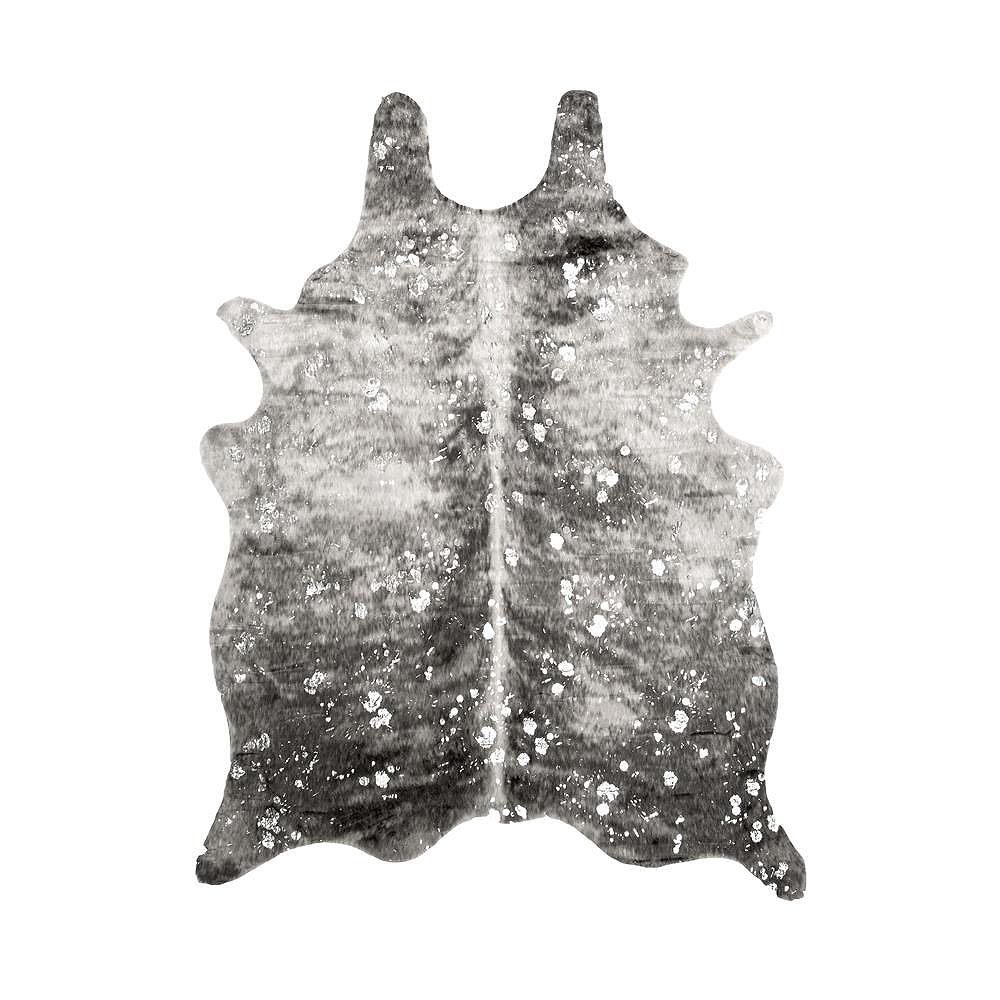 nuLOOM Tinley Spotted Faux Cowhide Gray 6 ft. x 8 ft. Indoor Area Rug