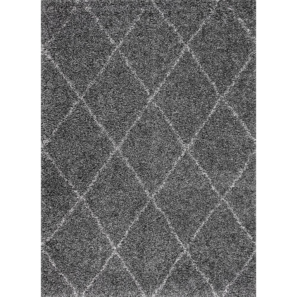 nuLOOM Shanna Shaggy Gray 5 ft. 3 in. x 7 ft. 6 in. Indoor Area Rug