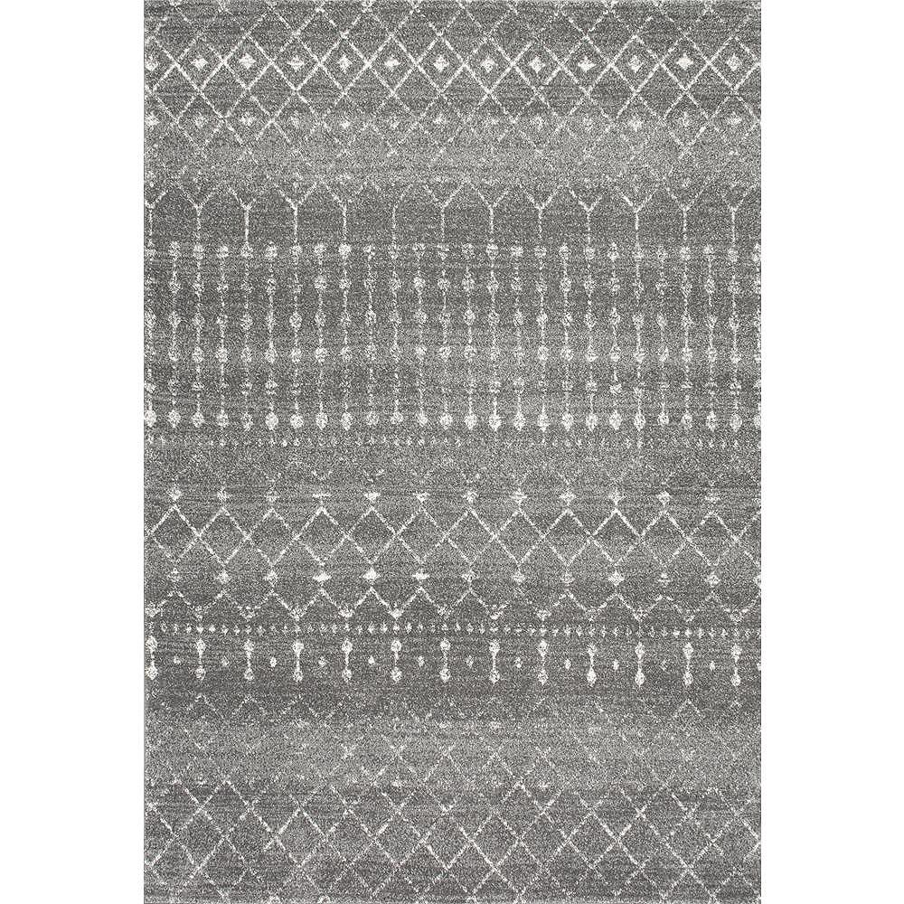 nuLOOM Moroccan Blythe Dark Gray 2 ft. x 6 ft. Indoor Runner