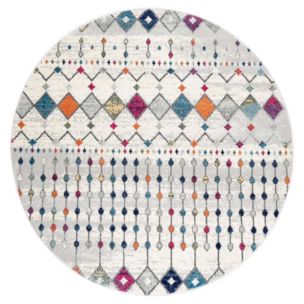 nuLOOM Moroccan Blythe Multi 4 ft. x 4 ft. Indoor Round Rug