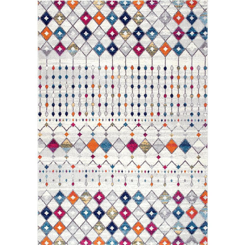 nuLOOM Moroccan Blythe Multi 3 ft. x 5 ft. Indoor Area Rug