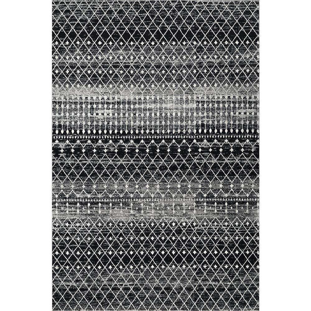 nuLOOM Moroccan Blythe Black 10 ft. x 10 ft. Indoor Square Rug