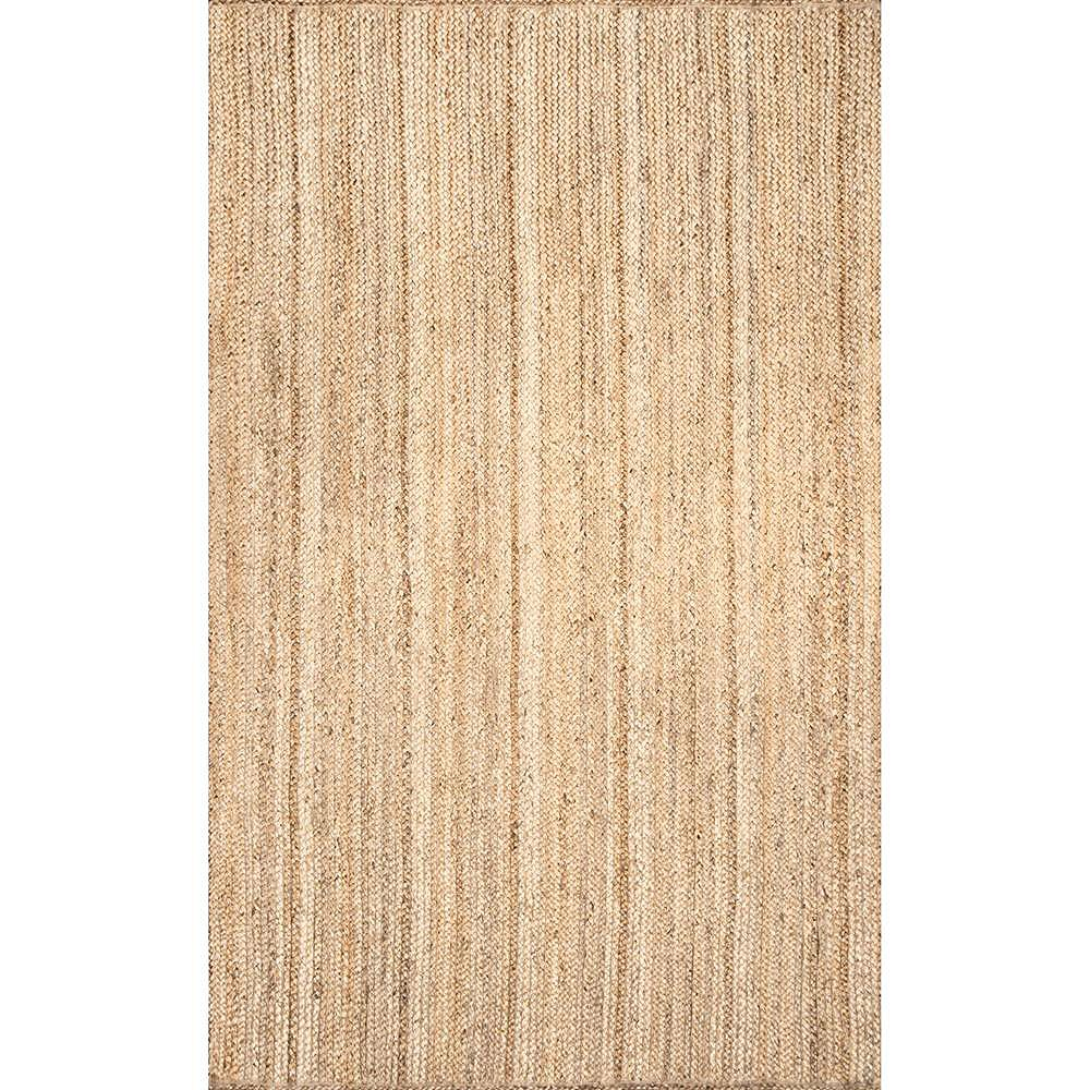 nuLOOM Hand Woven Rigo Jute Natural 4 ft. x 4 ft. Indoor Square Rug