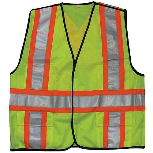 Class 2 Hi-Vis Green 5-Point Tear-away Traffic Vest