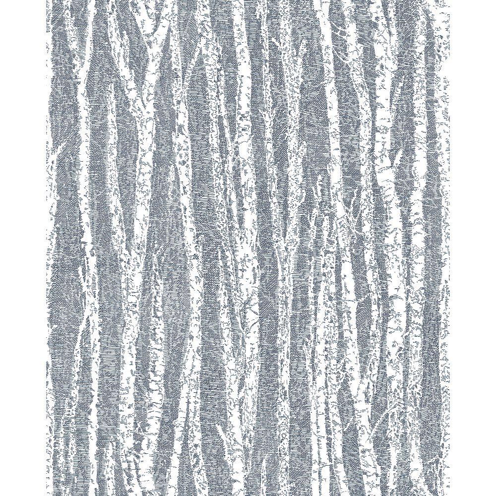 Advantage Flay Navy Birch Tree Wallpaper