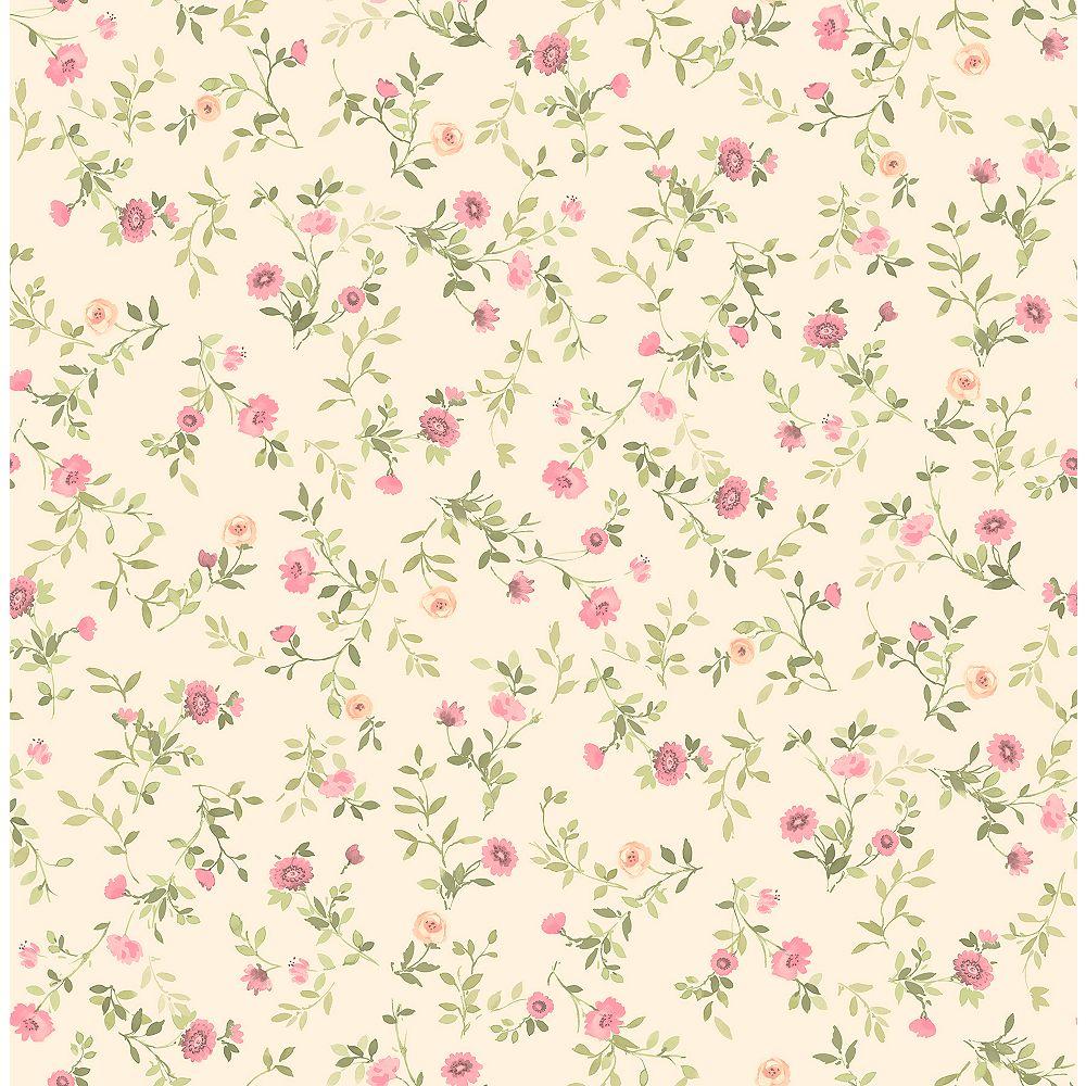 Advantage Catlett Pink Floral Toss Wallpaper