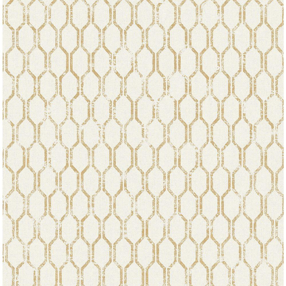 Advantage Elodie Gold Geometric Wallpaper