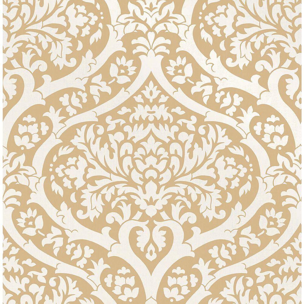 Fine Decor Sandringham Mustard Damask Wallpaper