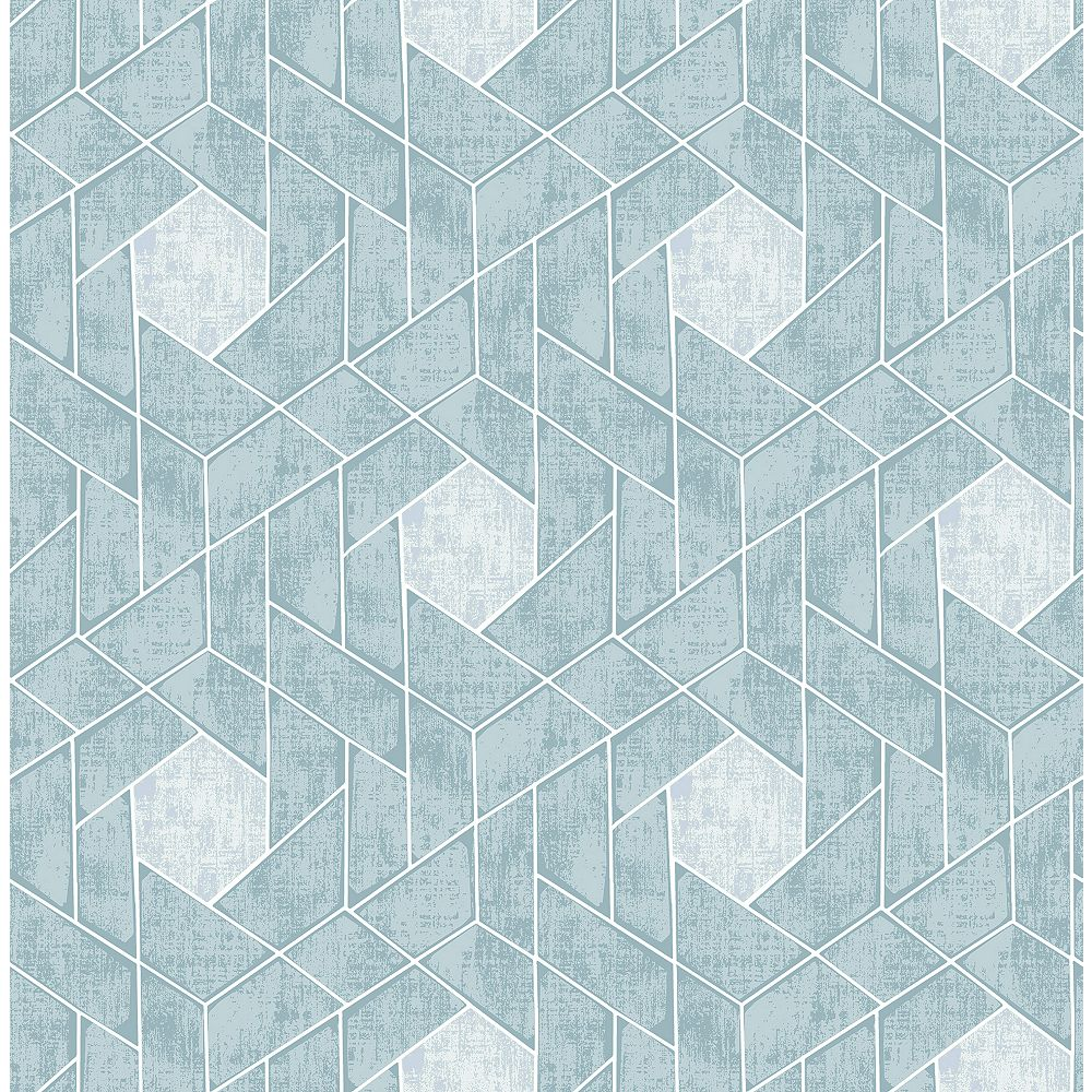 A-Street Prints Granada Aqua Geometric Wallpaper