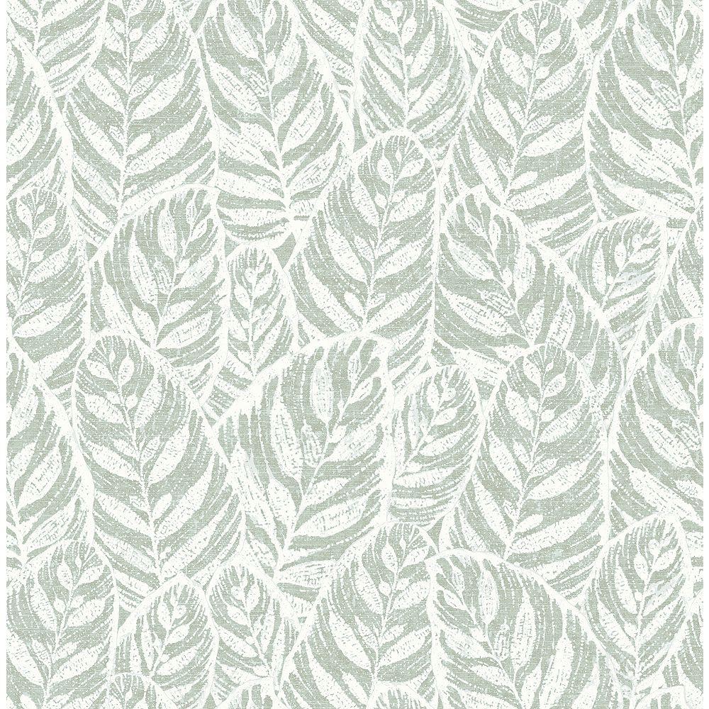 A-Street Prints Del Mar Sage Leaf Wallpaper