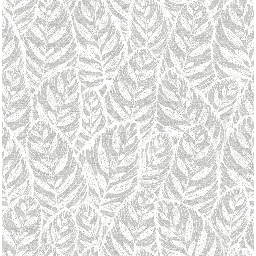 A-Street Prints Del Mar Grey Botanical Wallpaper