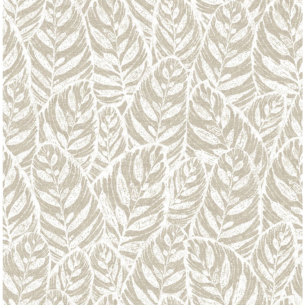 A-Street Prints Del Mar Beige Botanical Wallpaper