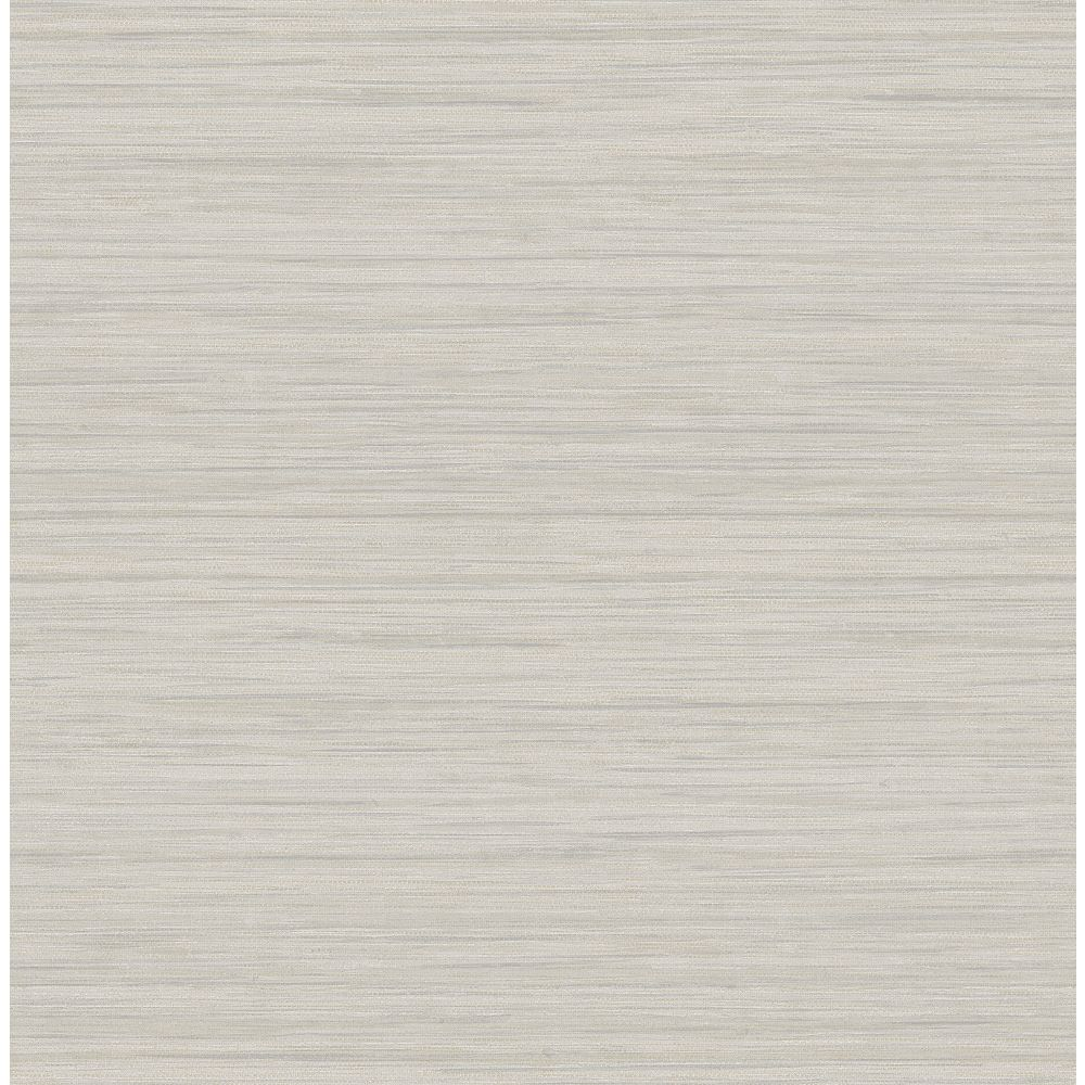 A-Street Prints Barnaby Light Grey Faux Grasscloth Wallpaper