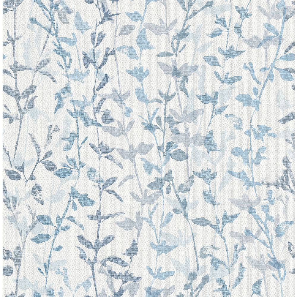 A-Street Prints Thea Blue Floral Trail Wallpaper