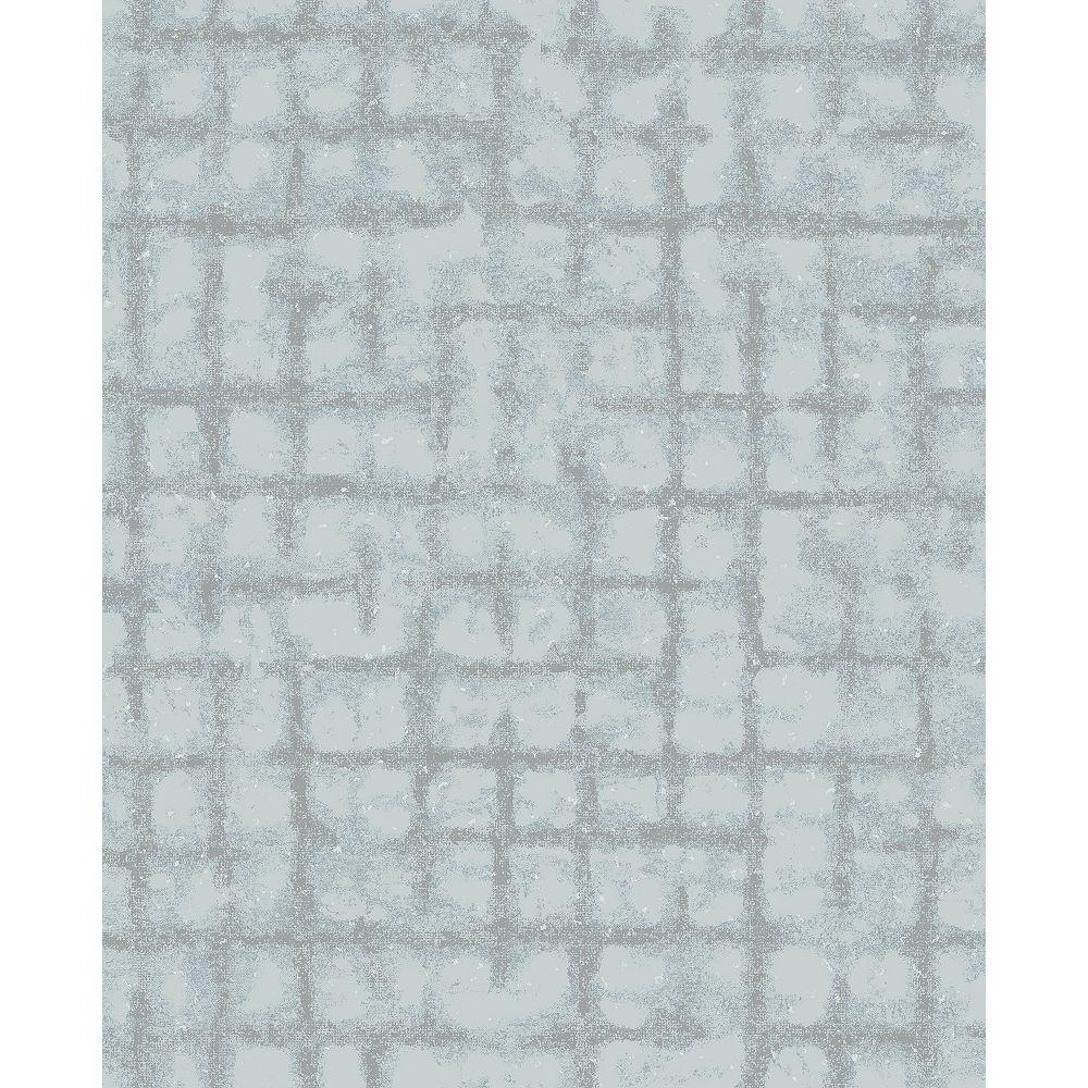 A-Street Prints Shea Sky Blue Distressed Geometric Wallpaper