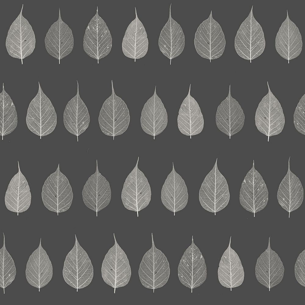ESTA Home Greenhouse Charcoal Leaves Wallpaper