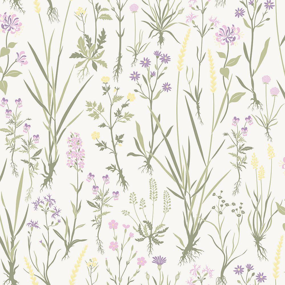Sandudd Harald Green Botanical Wallpaper
