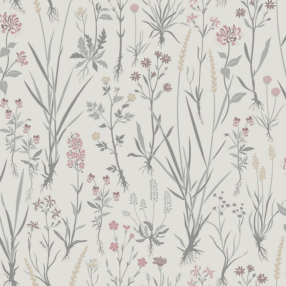 Sandudd Harald Beige Botanical Wallpaper