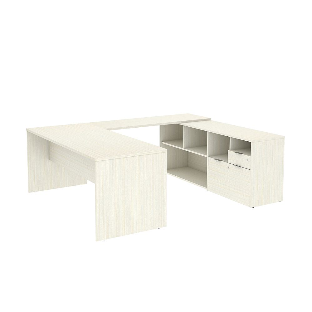 Bestar i3 Plus U-Shaped Desk whitechocolate