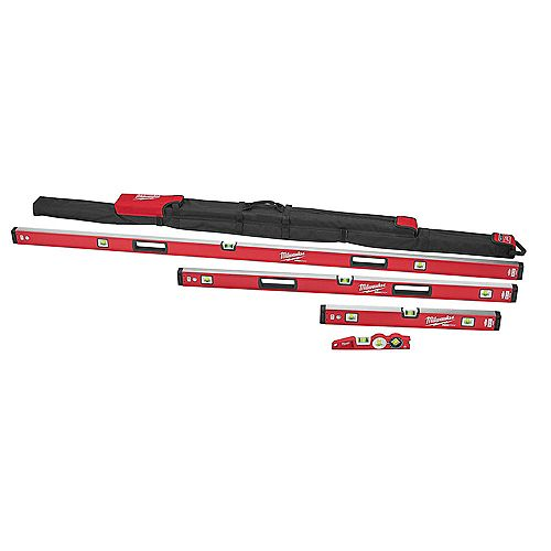 10 -inch /24 -inch /48 -inch /78 -inch REDSTICK Magnetic Box and Torpedo Level Set