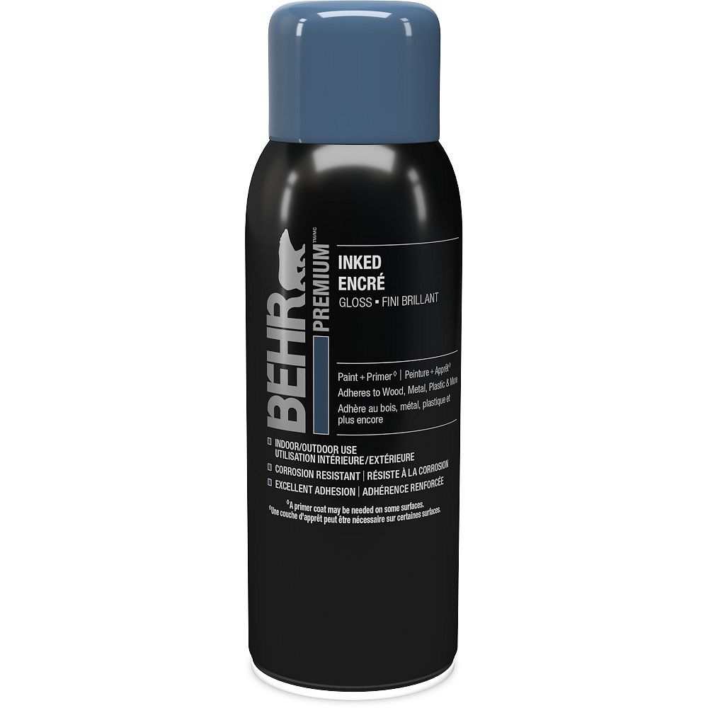 BEHR Spray Paint and Primer Aerosol in Gloss Inked, 340g