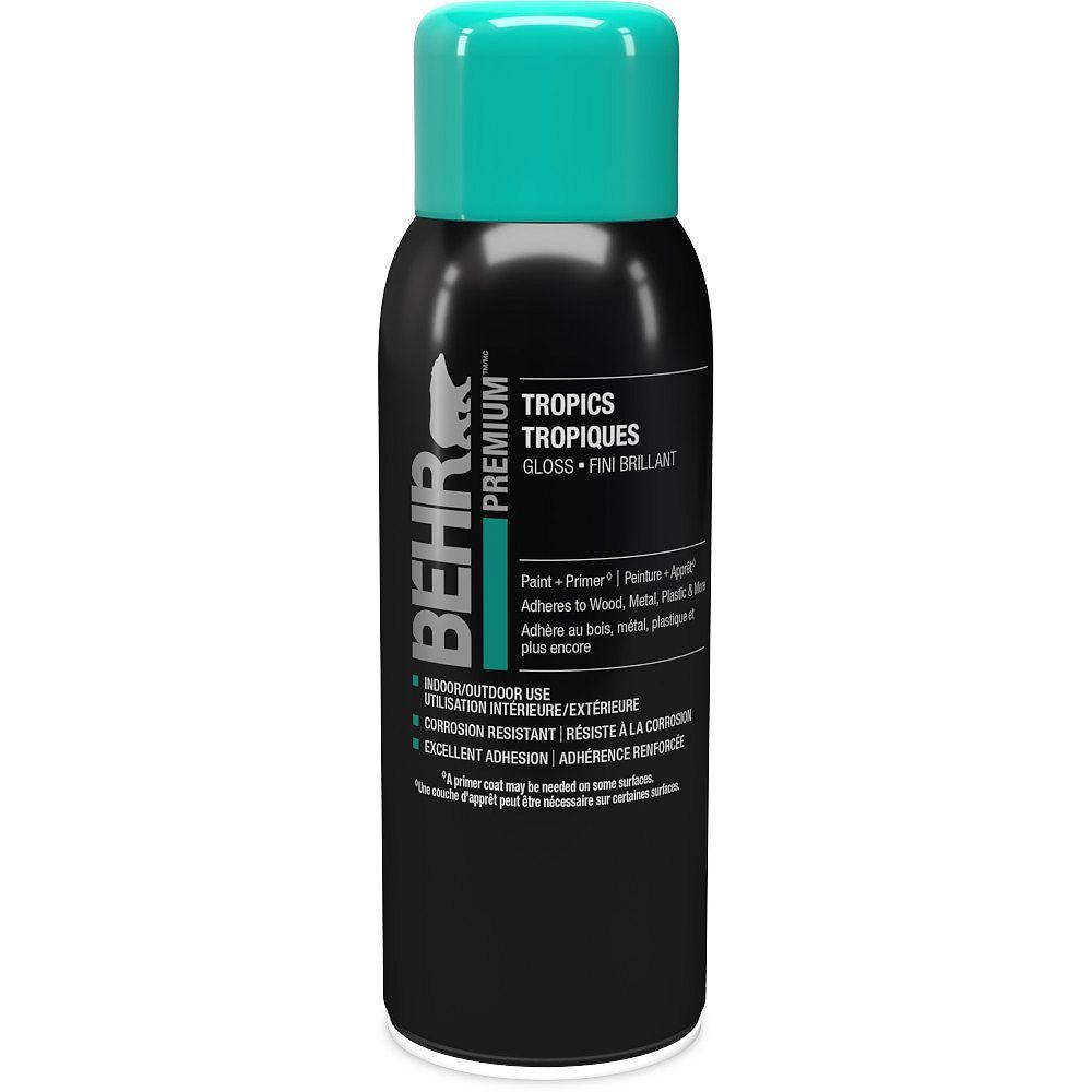 BEHR Spray Paint and Primer Aerosol in Gloss Tropics, 340g