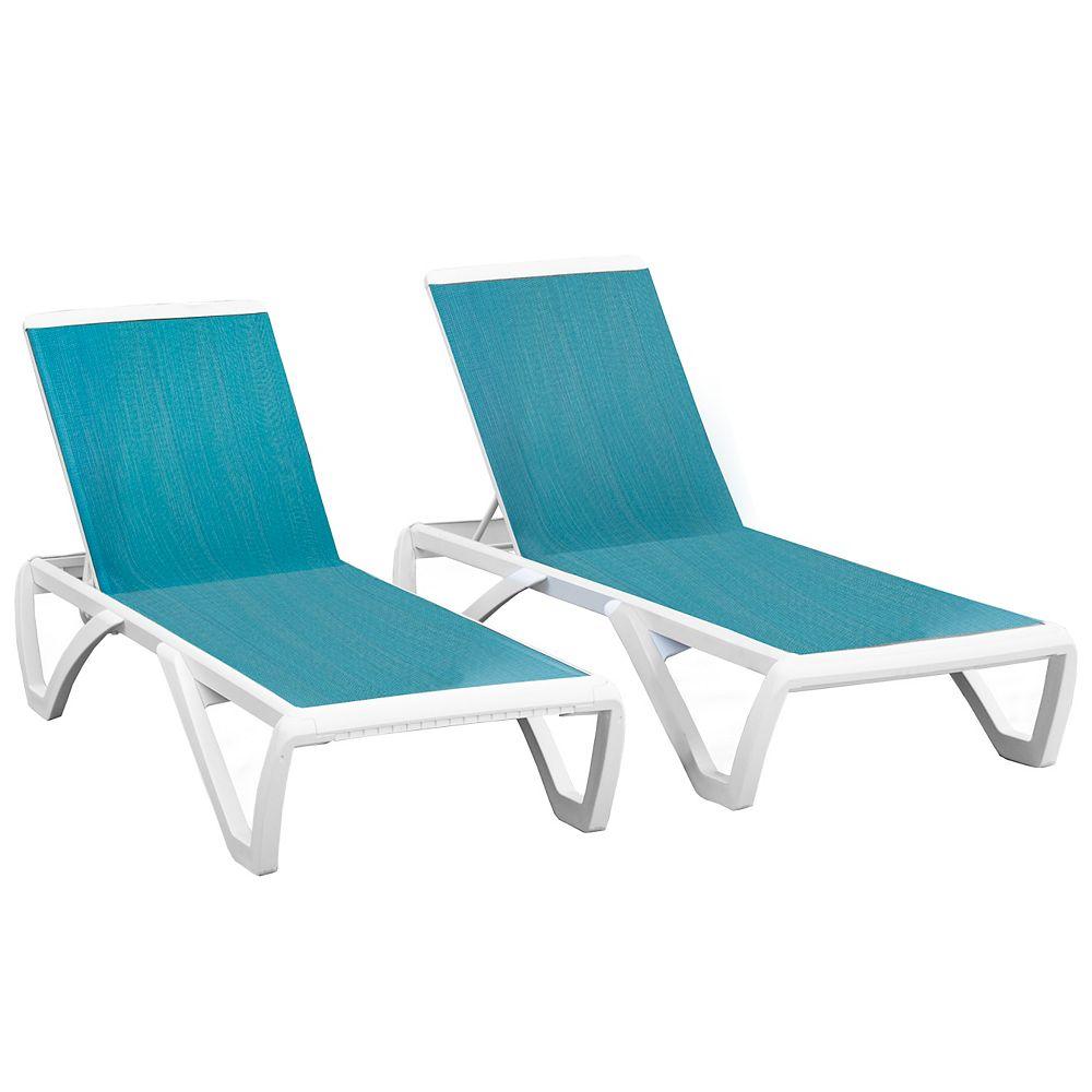 Vivere Monaco Sun Lounger in Blue Hawaii 2pc Set