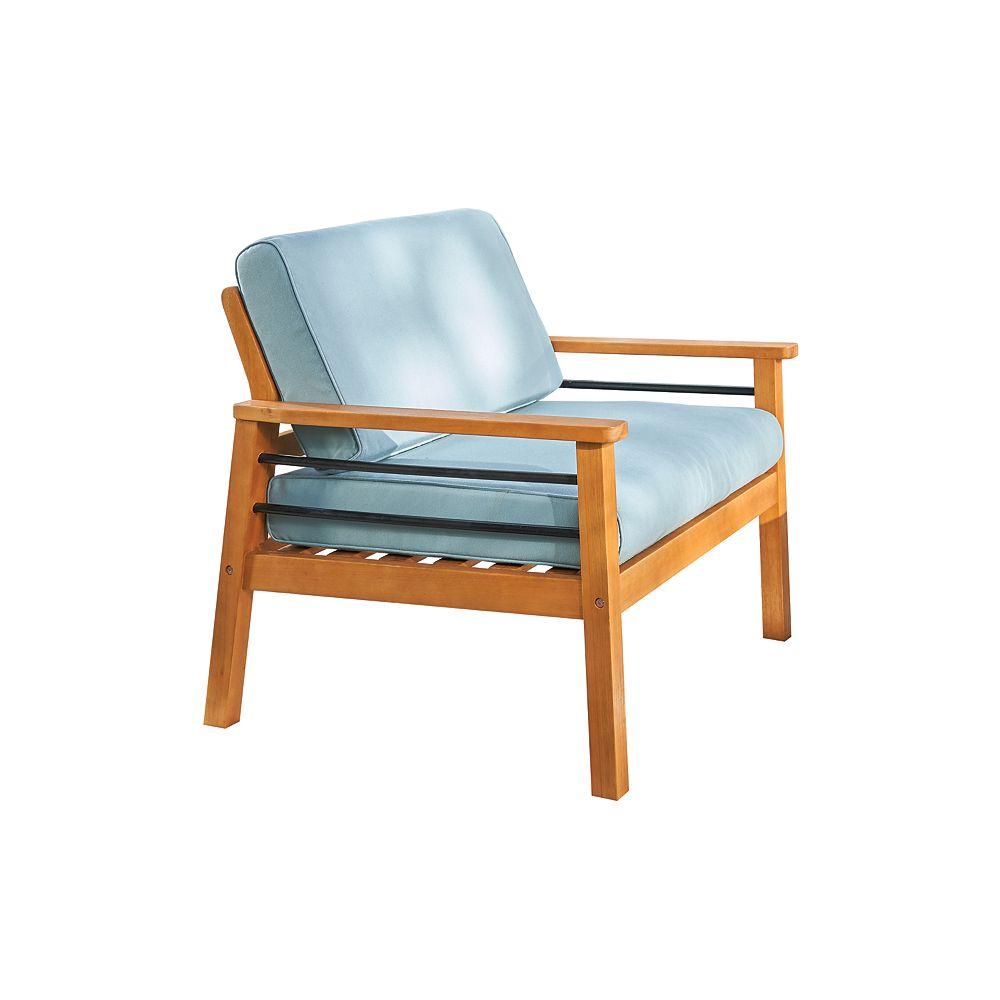 Vifah Gloucester Contemporary Patio Wood Sofa Club Chair