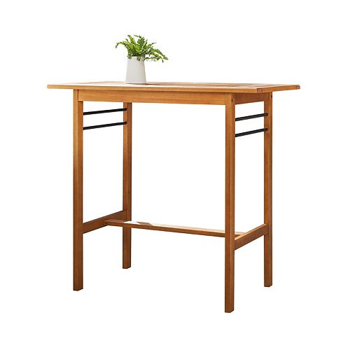 Gloucester Contemporary Patio Wood Bar Table