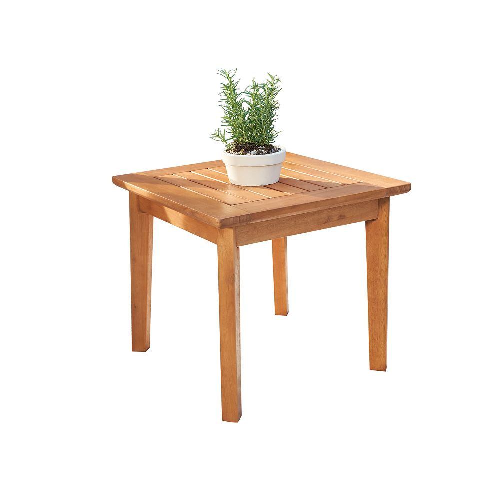 Vifah Gloucester Contemporary Patio Wood Side Table