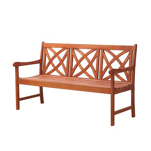Malibu Outdoor Patio 5-foot Wood Garden Bench