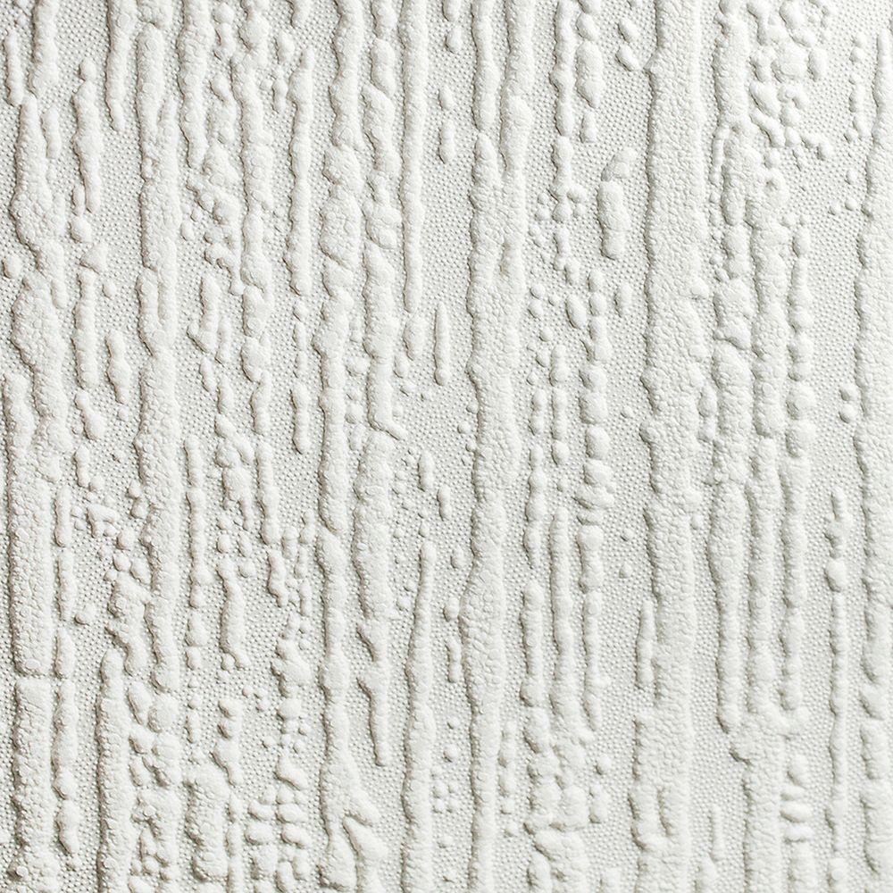 Graham & Brown Wallcoverings Bark White Paintable Removable Wallpaper