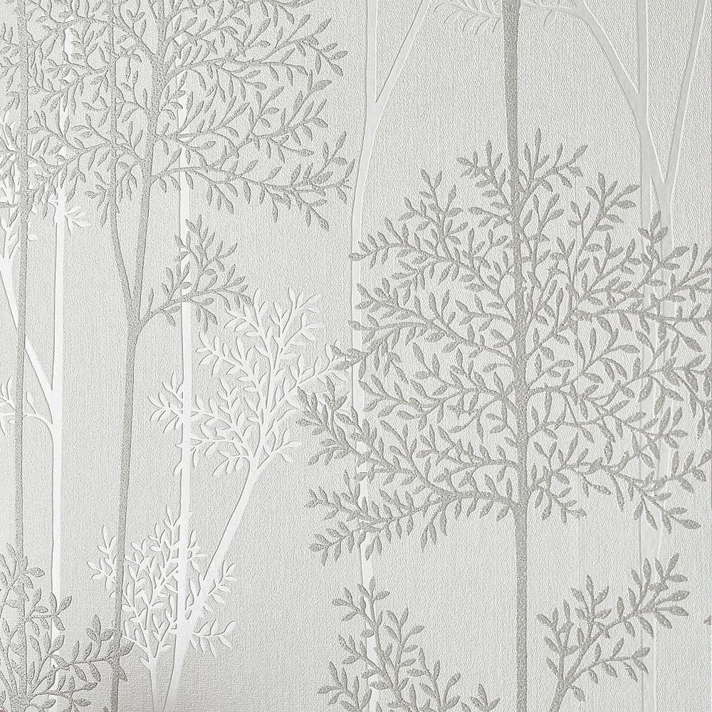 Graham & Brown Wallcoverings Eternal White Mica Removable Wallpaper