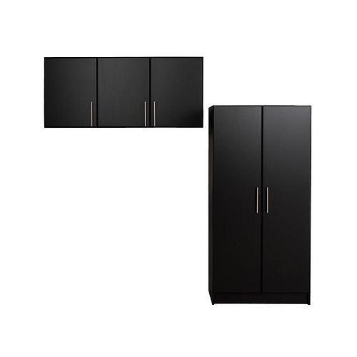 Prepac Black Elite 86 in Storage set E - 2 pc
