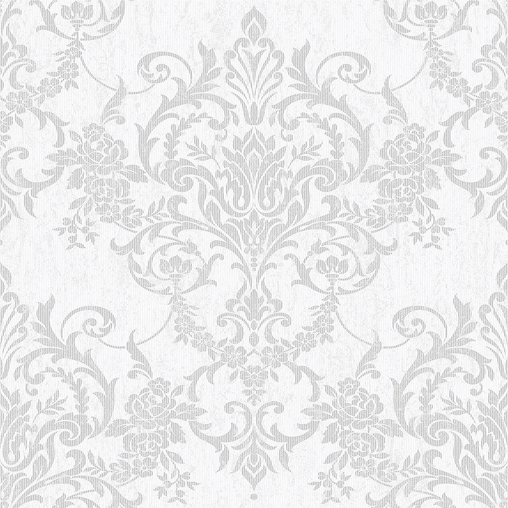 Graham & Brown Wallcoverings Victorian Damask Silver Removable Wallpaper