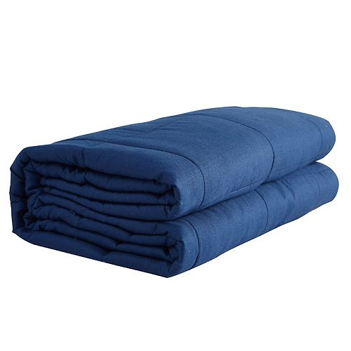 100% Cotton Weighted Blanket 20 lbs - Navy