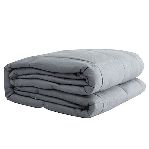 100% Cotton Weighted Blanket 20 lbs - Light Grey