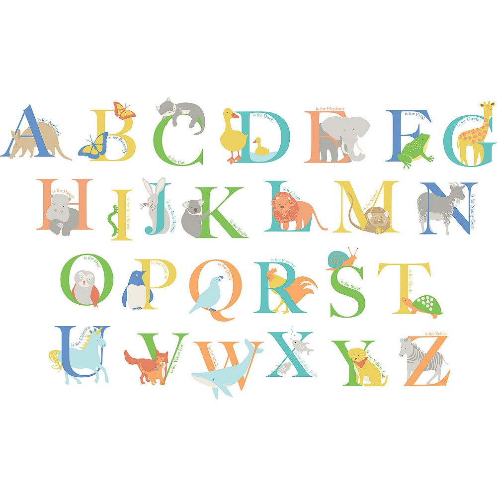 WallPops Alphabet Animals Wall Art Kit