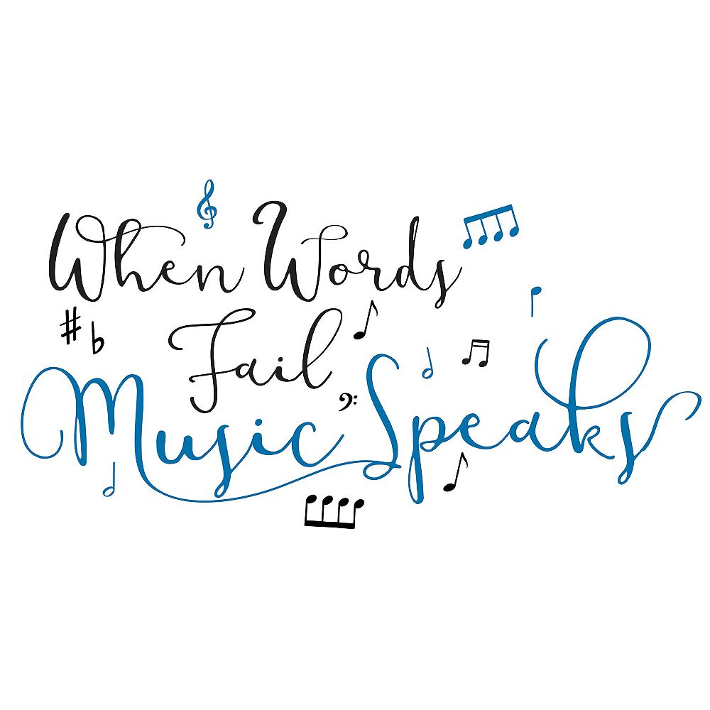 WallPops Music Speaks Wall Quote