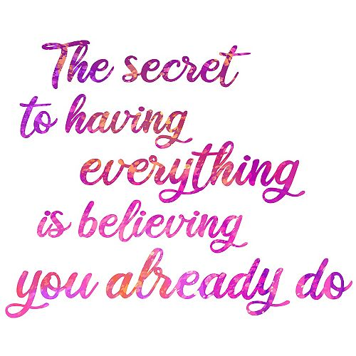 Secret To Everything Wall Quote