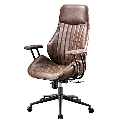 Chaise de bureau brun foncé