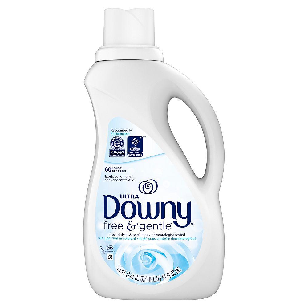 Downy Downy Ultra Liquid Fabric Conditioner (Fabric Softener), Free & Gentle, 60 Loads 1.53 l