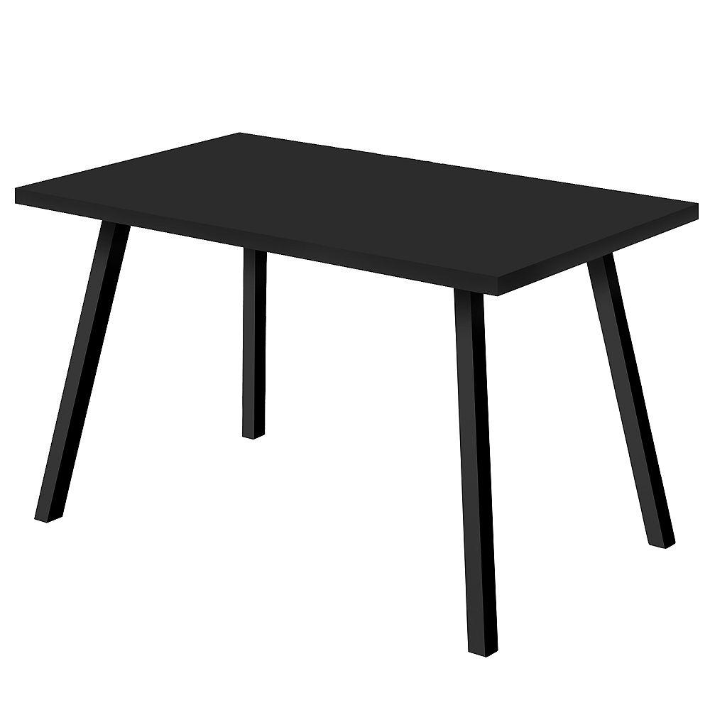 """Monarch Specialties Dining Table - 36""""X 60"""" / Black / Black Metal"""