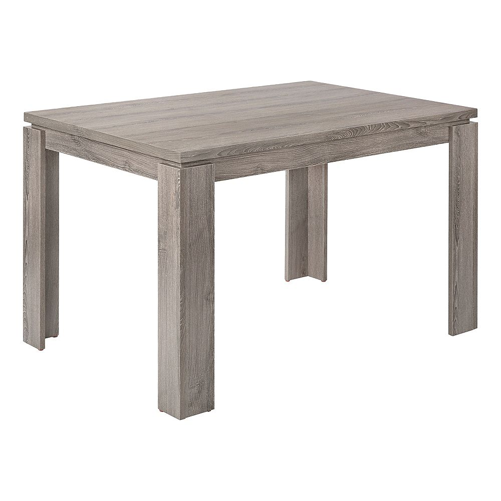 "Monarch Specialties Dining Table - 32""X 48"" / Dark Taupe"