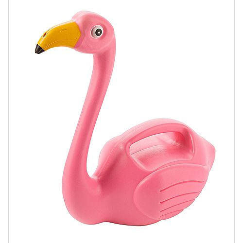 1.5L Plastic Watering Can Flamingo
