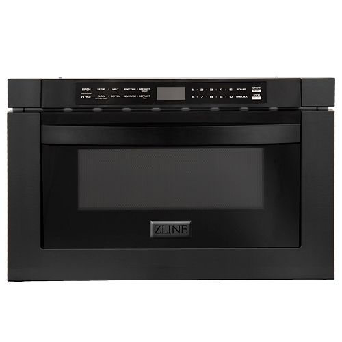 "24"" 1.2 cu. ft. Microwave Drawer in Black Stainless Steel"