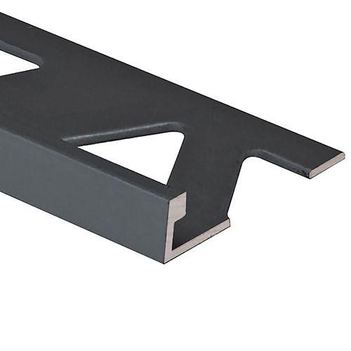 Prova 1/2in (12MM) Black Aluminum Tile Edge to protect wall tiles, floors or back splashes