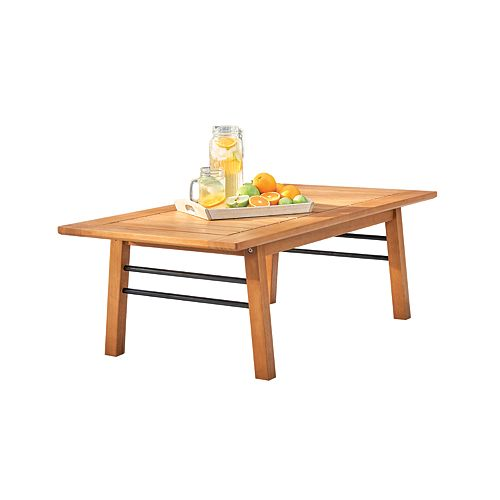 Gloucester Contemporary Patio Wood Sofa Table