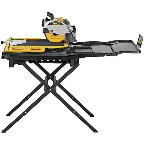 DEWALT 10-INCH HIGH CAPACITY WET TILE SAW WITH STAND
